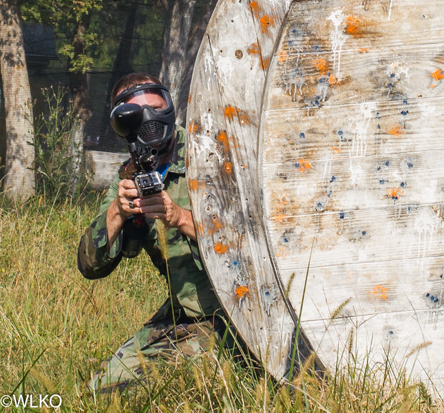 Is that a GoPro on his gun?! Playing AND shooting a paintball match with the DeMolay youth group in Maryland.