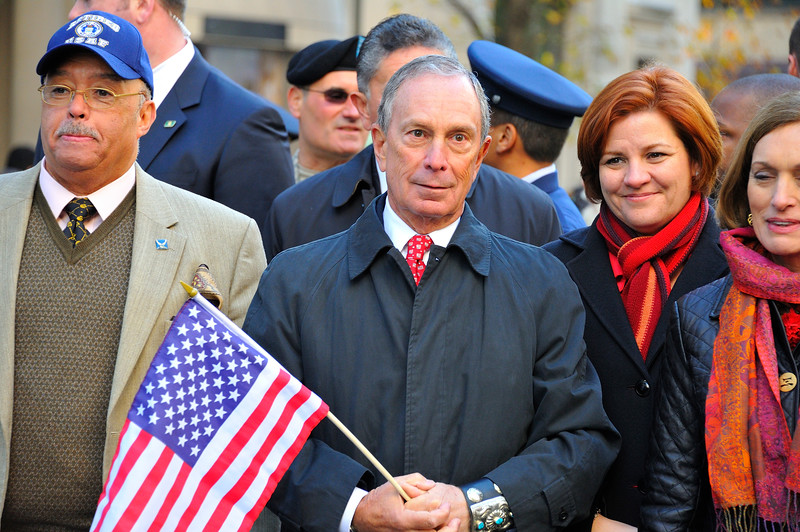 Michael Bloomberg, Veteran's Day Parade on Fifth Avenue, New York City
