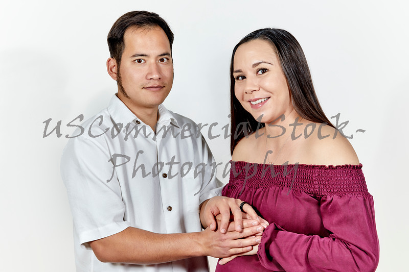 Attractive Young Couple expecting their First Baby