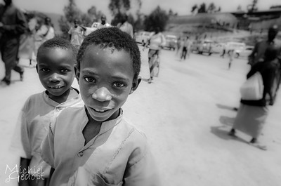 Kids playing and curious about the camera - Burundi