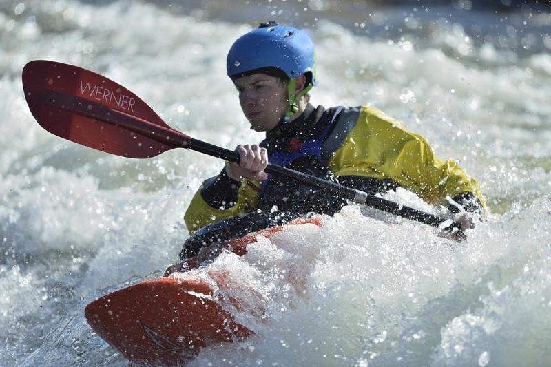 Whitewater Kayaker on the Clark Fork, Montana