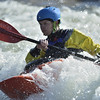 Whitewater Kayaker on the Clark Fork, Montana