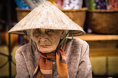 Old Lady in Hoi An Vietnam