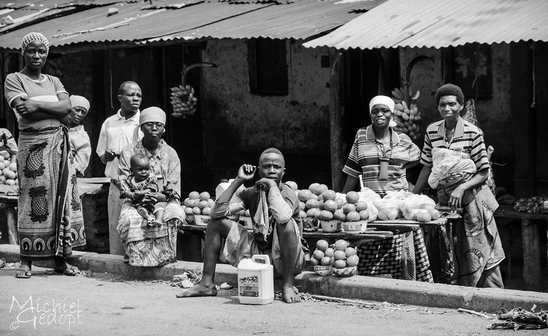 African Market by the main road to Bujumbura - Burundi