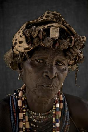 Elder Dassanech woman, Omo Valley, Ethiopia
