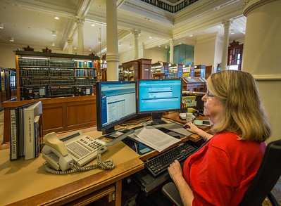 Sally Harlow, Legislative Reference Librarian, Texas State Capitol.