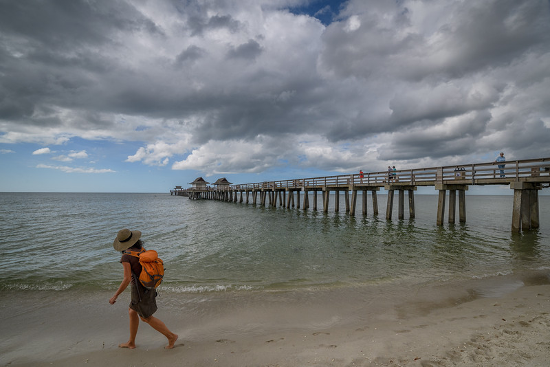 Clouds over Naples Pier, Naples, Florida