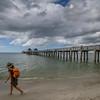 Clouds over Naples Pier, Naples, Florida