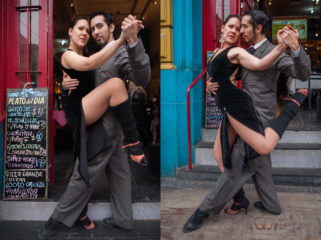 Tango dancers at La Boca, Buenos Aires, Argentina