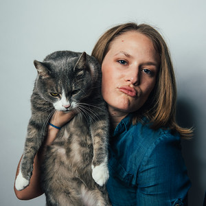 Studio Modeling with a Cat