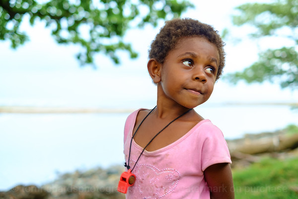 Vanuatu, Erromango, Dillon's Bay (William's Bay), Girl with Whistle