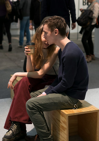 Young Couple at the Armory Show New York