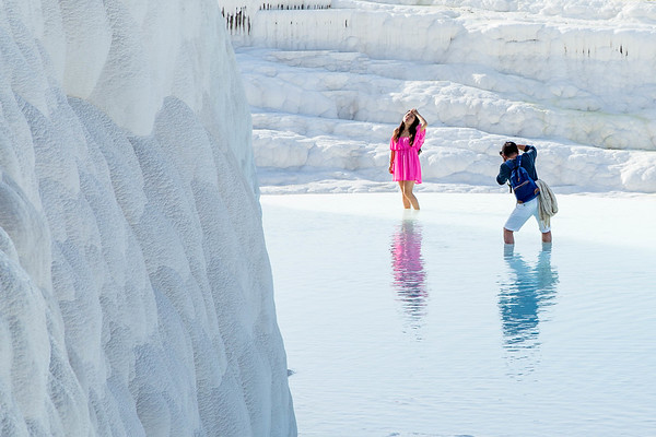 Woman Posing - Pamukkale, Turkey
