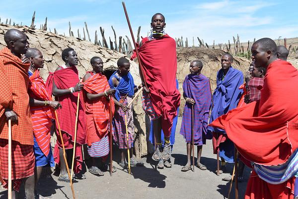 Maasai Jumping Ngorongoro