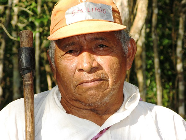 I spent a week in the village of Muchucxcah, in the Yucatan, Mexico helping to build a Mayan eco-tourism site and worked, ate, and became friends with this Mayan man.