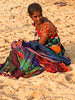 Indian woman at the beach