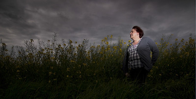 An example of an image using three flashguns on full power and close to the portrait subject to actually 'overpower' the light from the sun, thus creating an almost night-time quality and giving the whole picture a more dramatic feel.