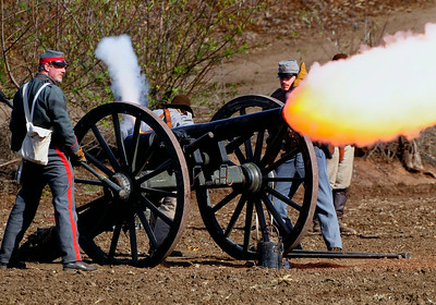 Cannon Fire Civil War Reenactors Moorpark Ca