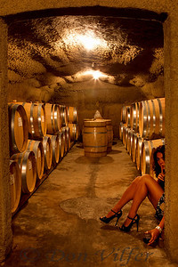 Model Amy Lee Swanson caught drinkin' from the barrels.