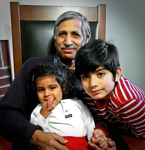 Mr. Sharma & grands.