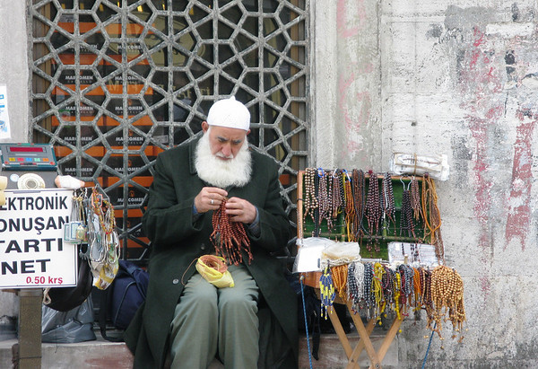 Selling Prayer Beads, Istanbul, Turkey
