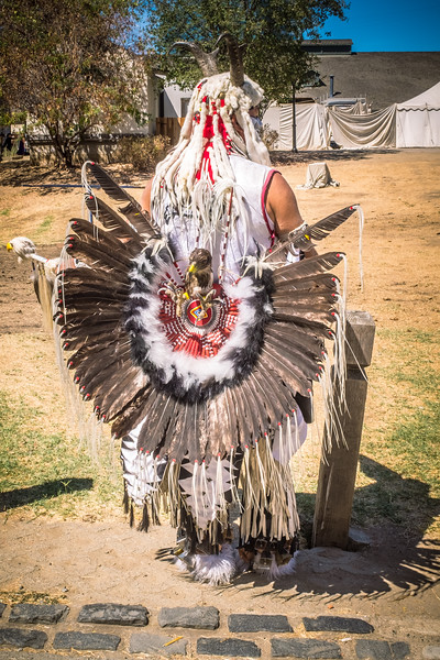 Native American regalia detail