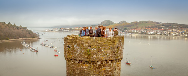 9:00 am Conwy Castle, North Wales.