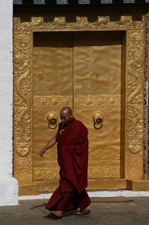 Monk at the Golden Door