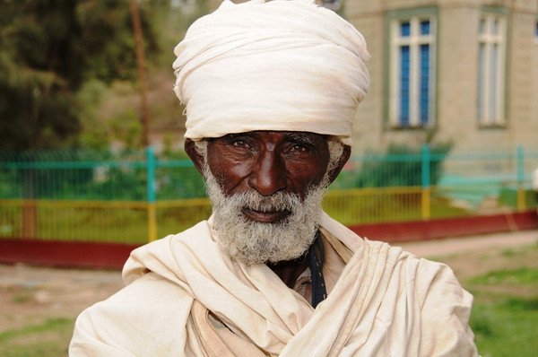 Priest Outside Church Where the Ark of the Covenant is Kept, Axum, Ethiopia