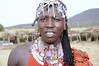 Young Maasai Man Wearing Sheep Wool Extensions, Maasai Mara, Kenya