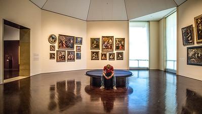 Texting at the Blanton Museum, Austin TX.