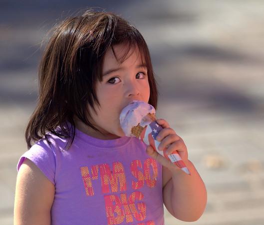 Child with Ice Cream.