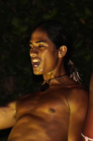 Rapa Nui warrior dancer