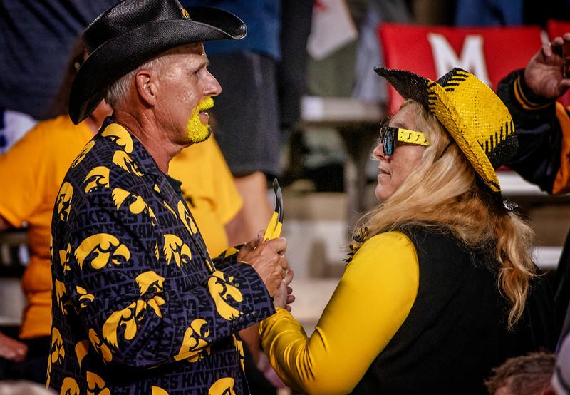 Fans of the Iowa Hawkeyes college football team