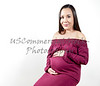 Attractive Pregnant Woman with her Hands on her Tummy