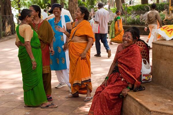 Mumbai ladies at the park