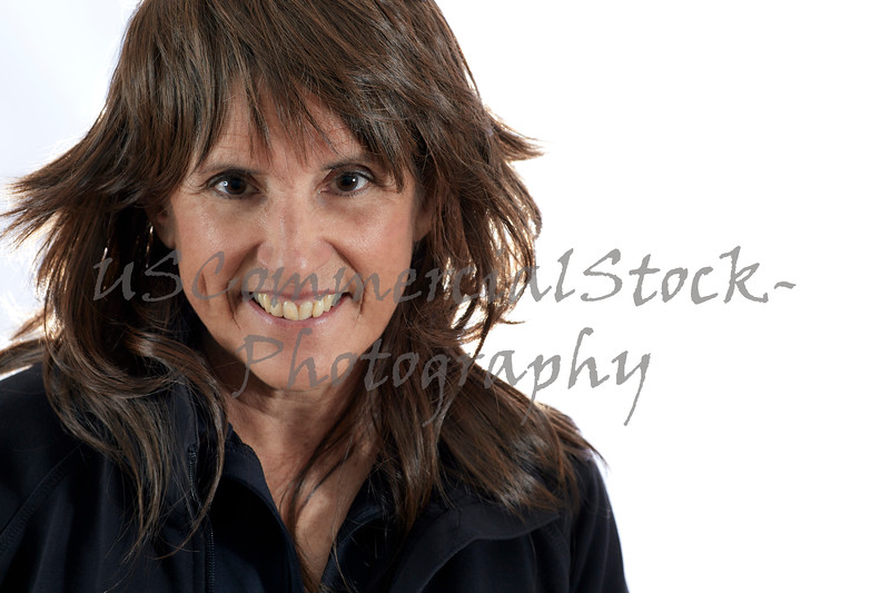 Middle Aged Woman with Brown Layered Hair