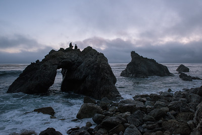 Sunset from Kirk Creek Arch