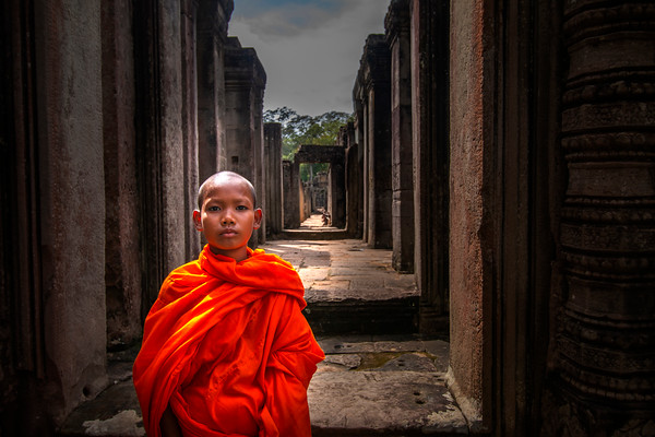 Monk at the Bayon Temple