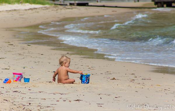 Sand+Bucket+ Beach = child's heaven