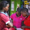 Girls Shopping in Namanga, Kenya