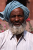 Man in Blue Turban, India