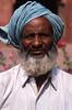 Man in Blue Turban, India