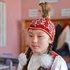 Young Kazakh schoolgirl