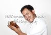 Handsome man holding Baby Moccasins