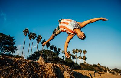 Acrobatics at Goleta Beach
