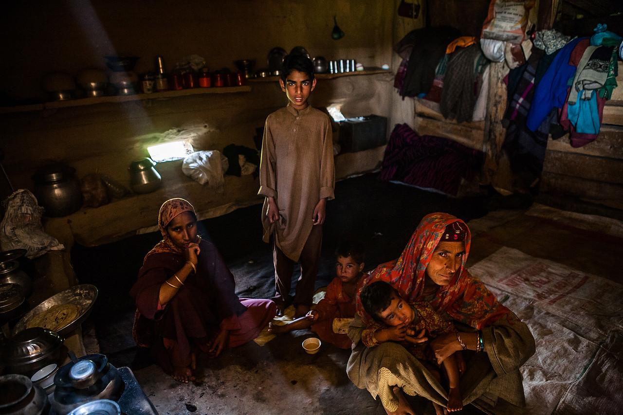 A Gujjar home in Kashmir, India