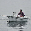 Will Mitchell rowing in to Telegraph Cove with the 2012 Stanley Cup.