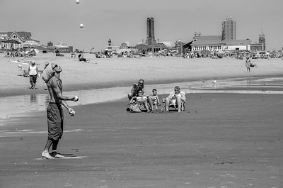 The Elusive Juggler at the Beach, Ocean Grove, NJ
