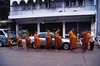 Monks in morning, Mae Hong Son, Thailand